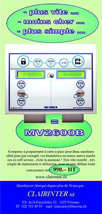 flyer de présentation du compteur MV2600B
